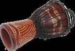 Djembé-Tanga-Slammer-14-inch-rood-gehouwen
