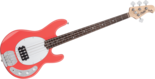 Sterling-SUB-Ray-4-Fiesta-Red-4-snarige-basgitaar-nu-met-hoes