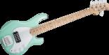 Sterling-SUB-Ray-5-Mint-Green-5-snarige-basgitaar-nu-met-hoes
