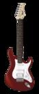 Cort-G110-e-gitaarpakket-Scarlet-Red-met-Marshall-versterker