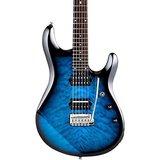 Sterling by Musicman JP100D (DiMarzio) Quilted John Petrucci Signature Pacific Blue Burst met hoes_6