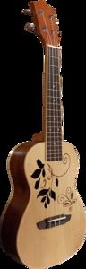 CLX Concert ukulele Leaves DeLuxe, Spruce bovenblad