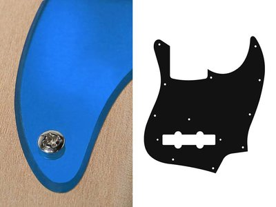 Slagplaat voor Jazz bass, 2 ply, Mirror Blue, standaard