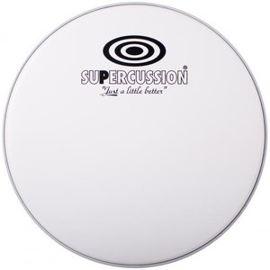 Coated white drumvel voor 16 inch floortom, Supercussion