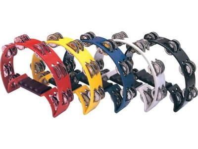 Beatring tamboerijn handpercussie, zwart, blauw, geel, wit of rood