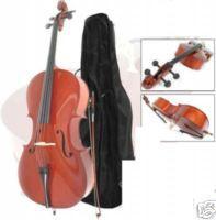 Cello 1/4 (kindermaat) incl gevoerde hoes, strijkstok