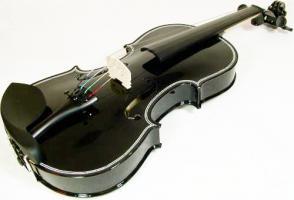 Viool 4/4 (volwassen model) compleet, zwart (zonder lijntje)