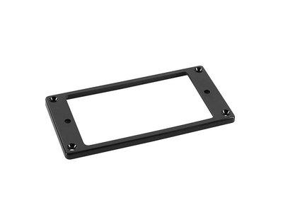 Humbucker frame, flat bottom slanted top, 7 to 9mm height, black