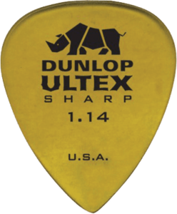 Dunlop Sharp - Player's pack met 6 plectrums, dikte 1,14mm