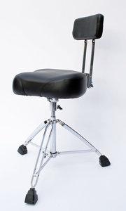 Zeer stabiele drumstool / drumkruk met ergonomische zitting, spindel en rugleuning