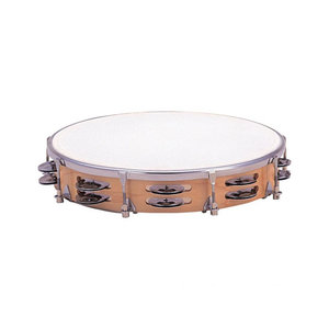 Dixon 10'' spanbare houten tamboerijn, plastic vel, 16 ''jingle'' paren