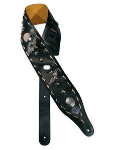 Gaucho Biker Series gitaarriem met vleermuizen, 10 cm breed