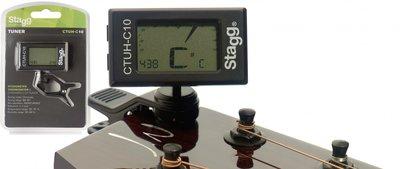 Stagg resonantie chromatische tuner met hygro- en thermometer