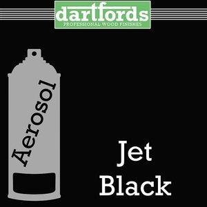 Dartfords Nitrocellulose paint, Jet Black - 400ml aerosol