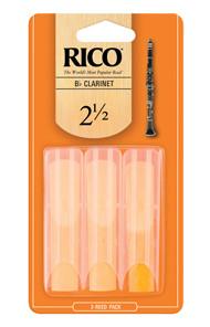 3 Rico rieten voor Bes klarinet, maat 1.5, 2.0, 2.5 of 3.0