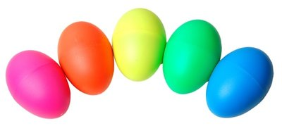 Shaker eggs, 2 stuks schudeieren, div kleuren