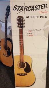 Starcaster by Fender, akoestisch gitaarpakket