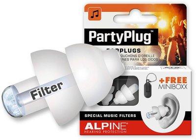 Alpine Partyplug gehoorbescherming, wit of zwart