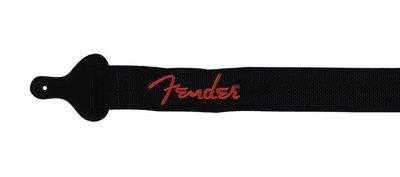 "Fender 2"" guitar strap 'Poly Logo', red Fender logo"