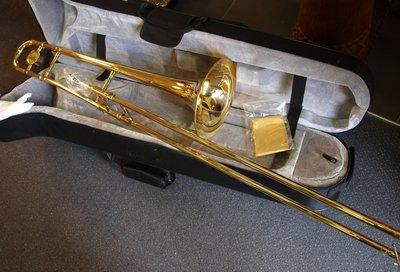 Tenor trombone Bb met stevige hardfoam koffer