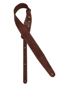 Gaucho Cobbler Series gitaarriem, topkwaliteit Europees leder, 5,5 cm breed, donkerbruin