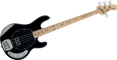 Sterling SUB Ray 4 Black SR4, 4-snarige basgitaar, nu met hoes