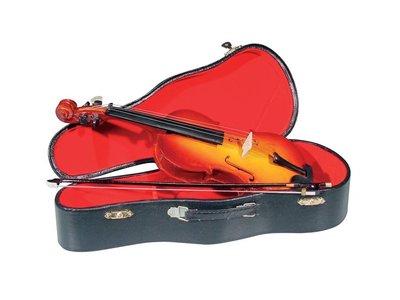 fe2ab94a734 Miniatuur viool met case, 25 cm - Instruments Online