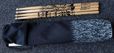 Tama sticktas met 2 paar drumsticks 7A Oak