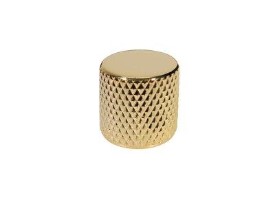 2x dome knob, metal, push on, gold
