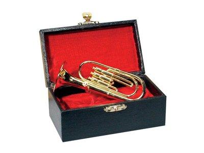 Miniatuur tuba / bariton 14,5 cm, in koffer