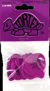 Dunlop plectrums, 12 stuks Tortex Standaard, dikte 1.14