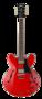 Cort-Source-Cherry-Red-ES335-model-met-hoes